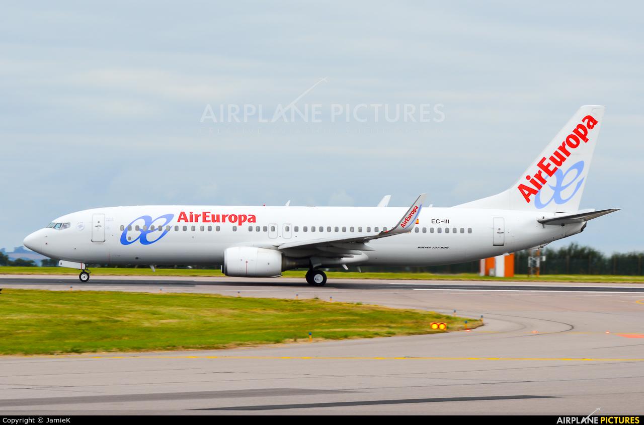 Air Europa EC-III aircraft at East Midlands