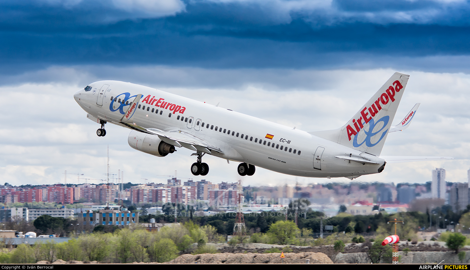 Air Europa EC-III aircraft at Madrid - Barajas