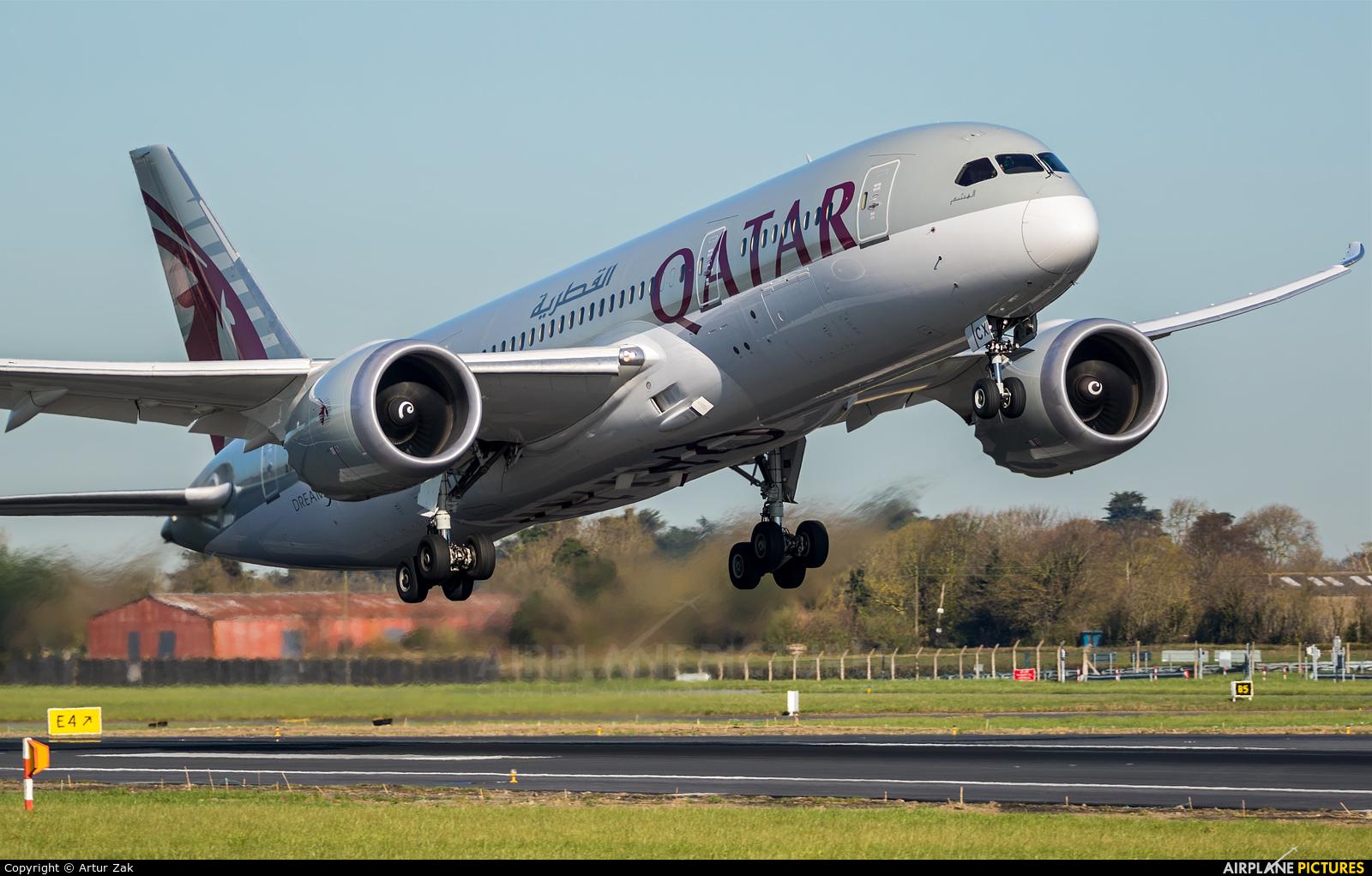 Qatar Airways A7-BCX aircraft at Dublin