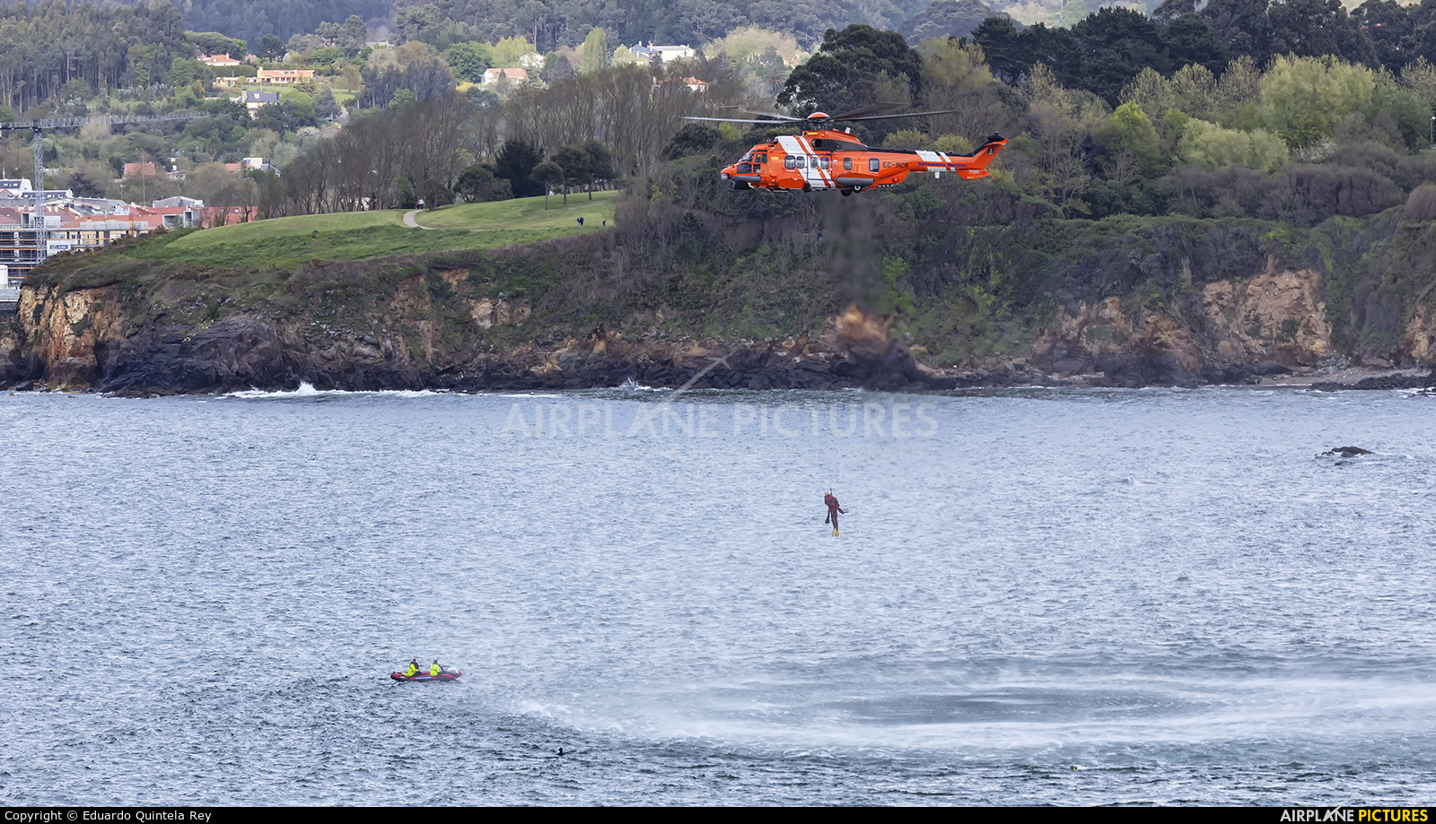 Spain - Coast Guard EC-MCR aircraft at La Coruña - Off Airport