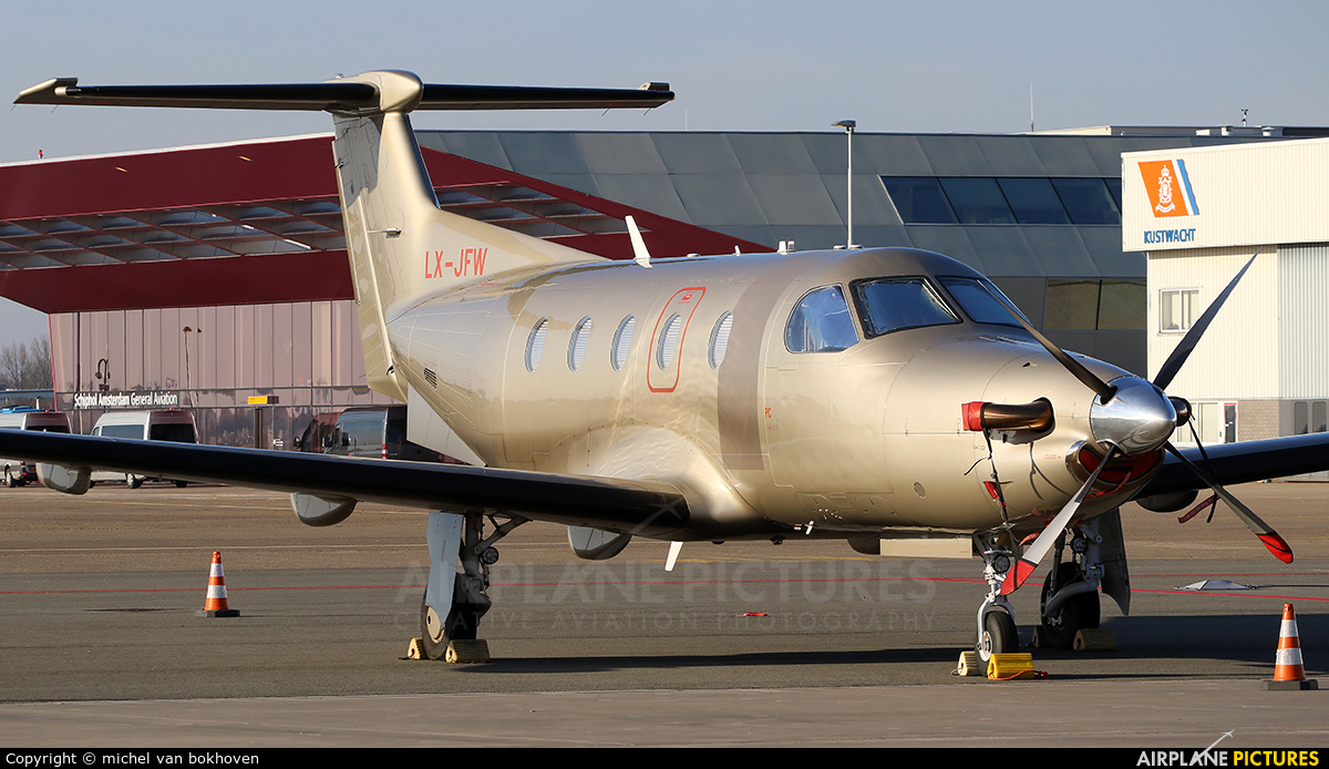Jetfly Aviation LX-JFW aircraft at Amsterdam - Schiphol