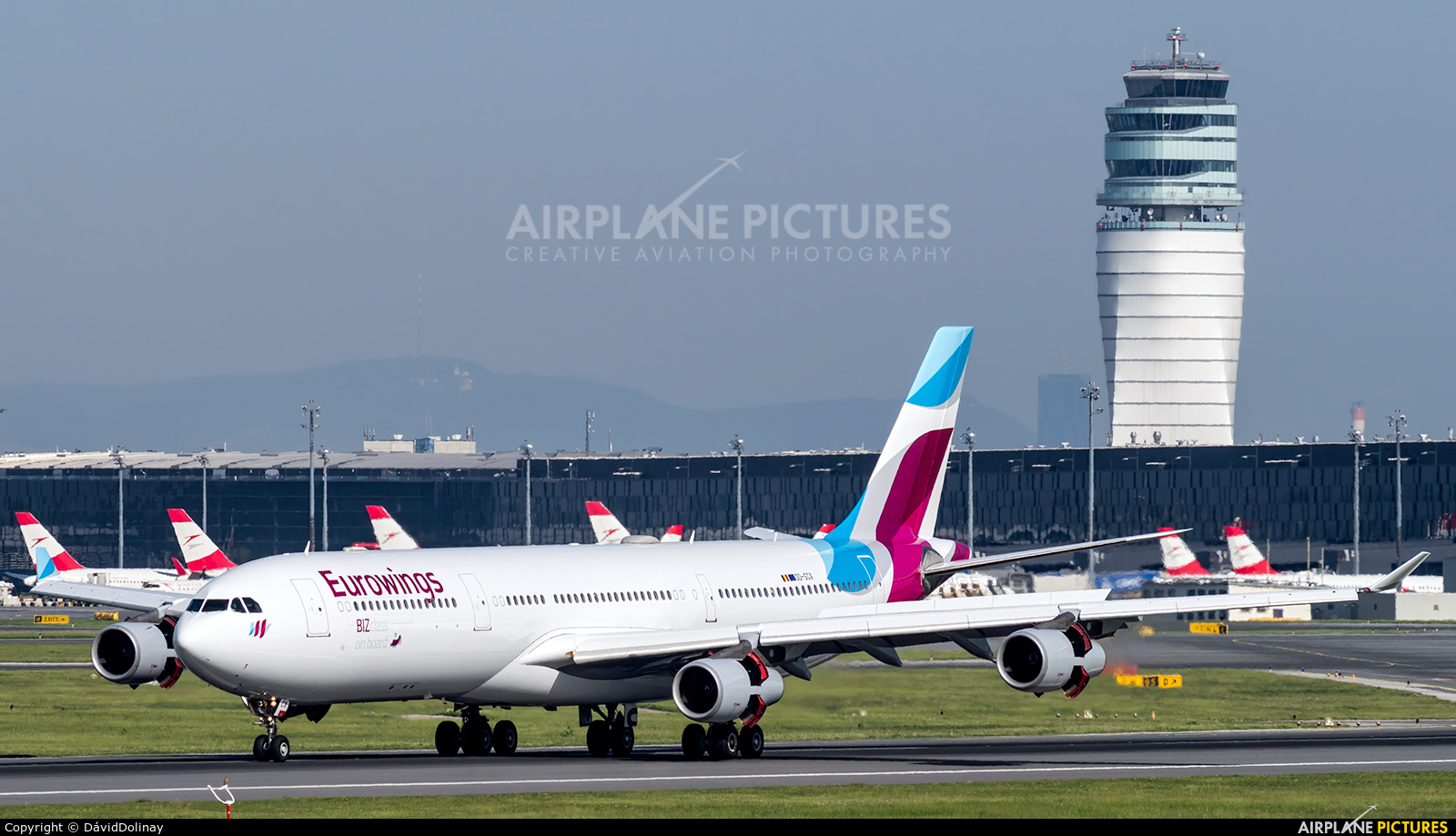 Eurowings OO-SCX aircraft at Vienna - Schwechat