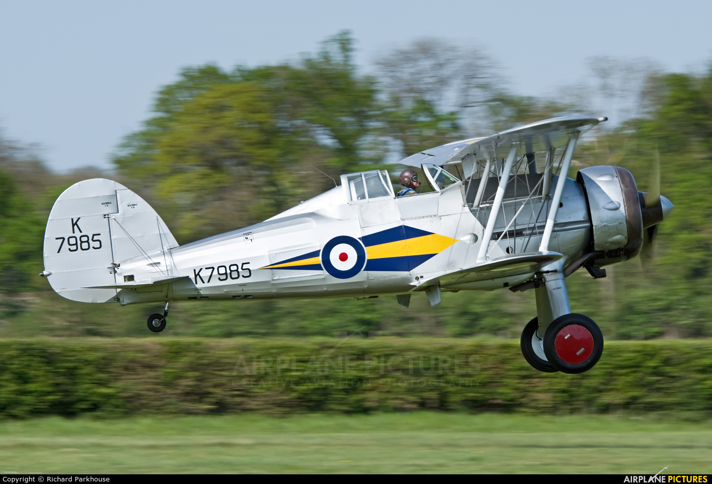 The Shuttleworth Collection G-AMRK aircraft at Old Warden