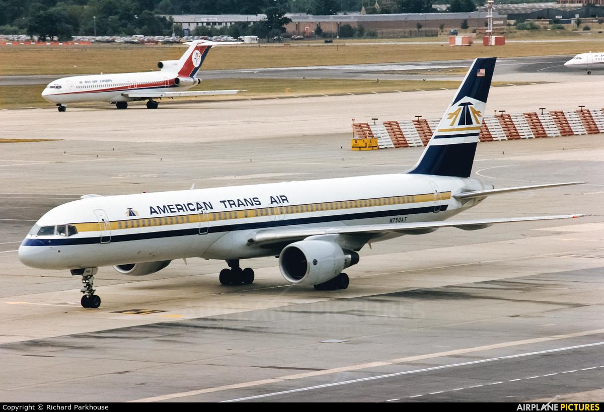 American Trans Air N750AT aircraft at London - Gatwick