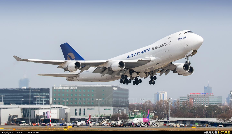 Air Atlanta Icelandic TF-AMQ aircraft at Warsaw - Frederic Chopin