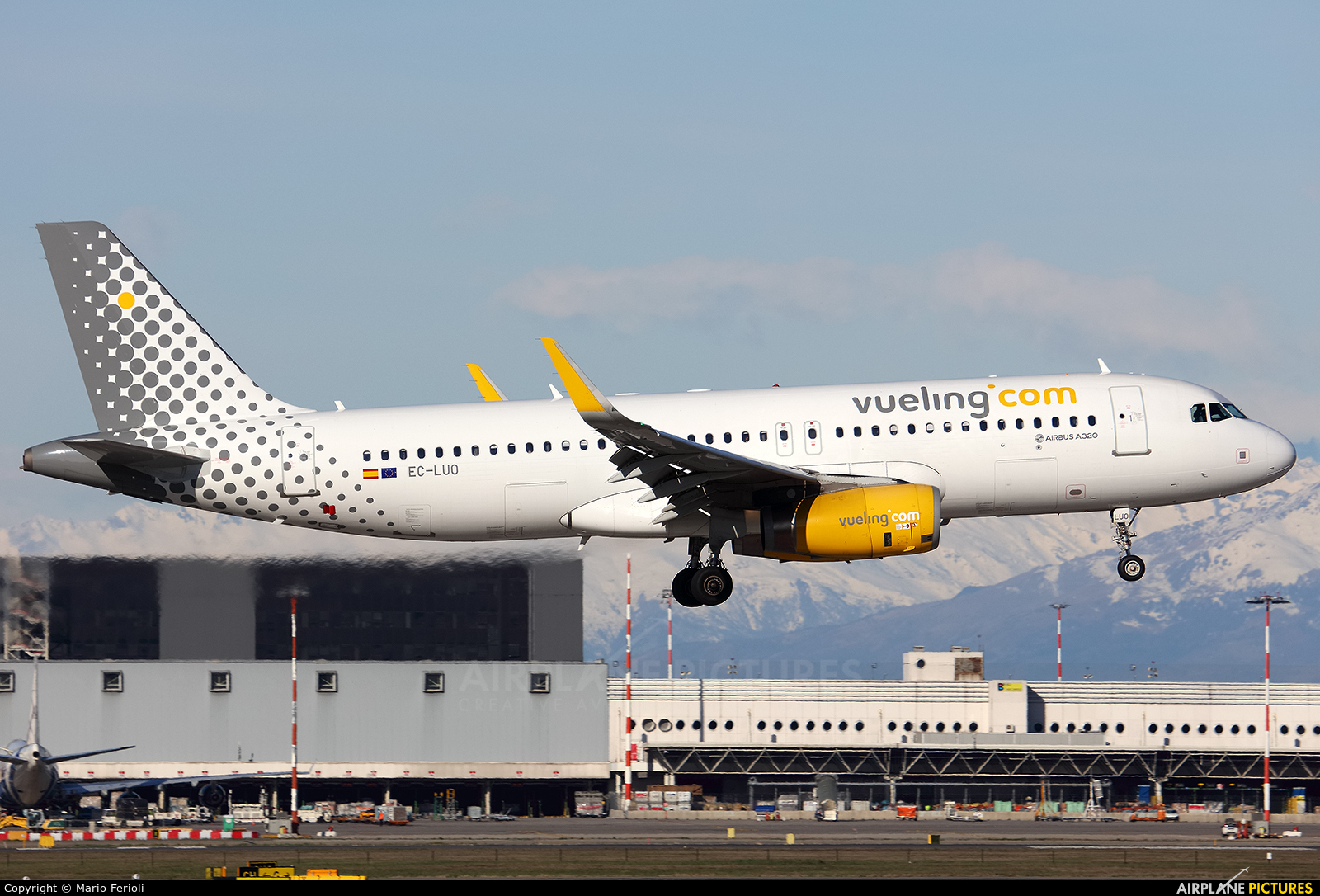 Vueling Airlines EC-LUO aircraft at Milan - Malpensa