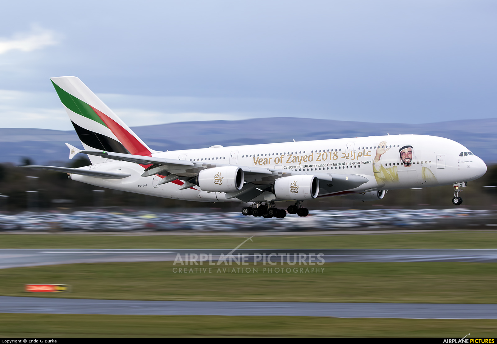 Emirates Airlines A6-EUZ aircraft at Manchester