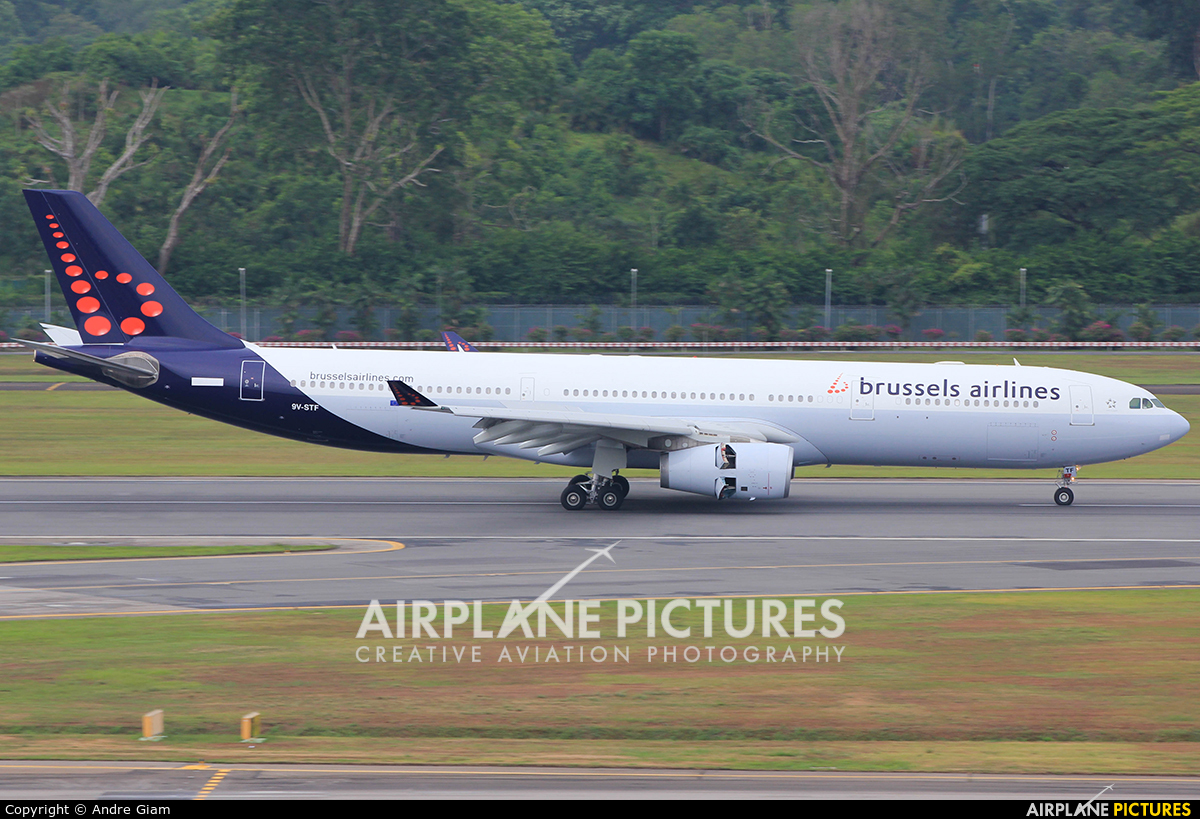 Brussels Airlines 9V-STF aircraft at Singapore - Changi
