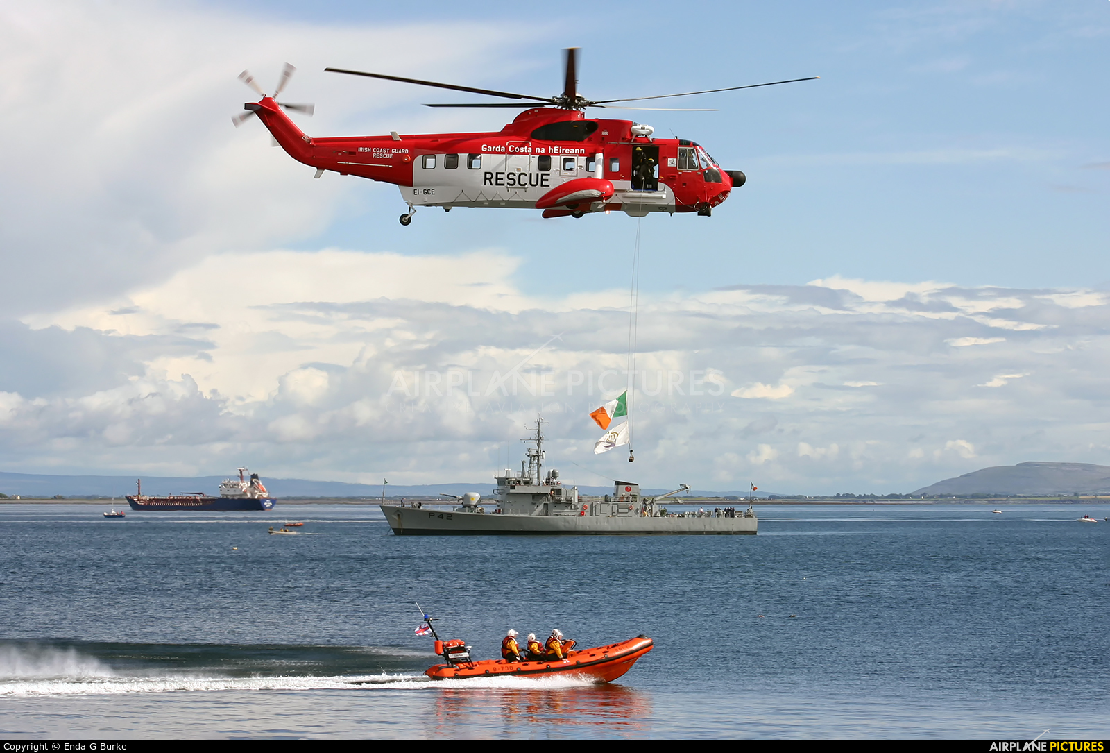 Ireland - Coast Guard EI-GCE aircraft at Galway