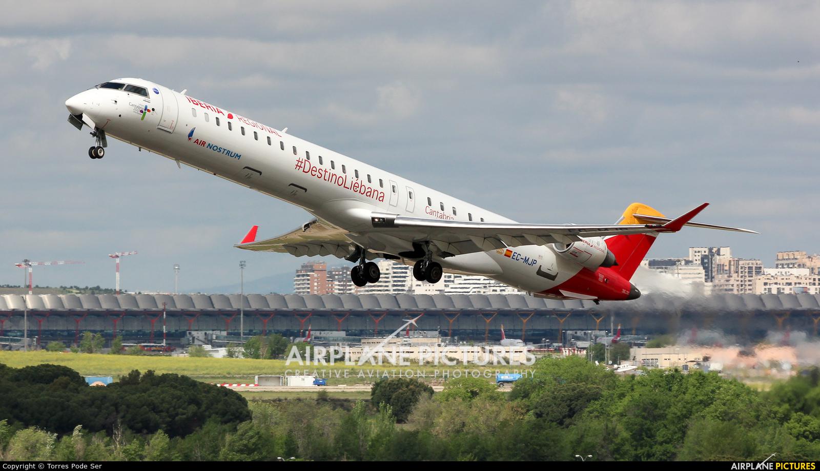 Air Nostrum - Iberia Regional EC-MJP aircraft at Madrid - Barajas