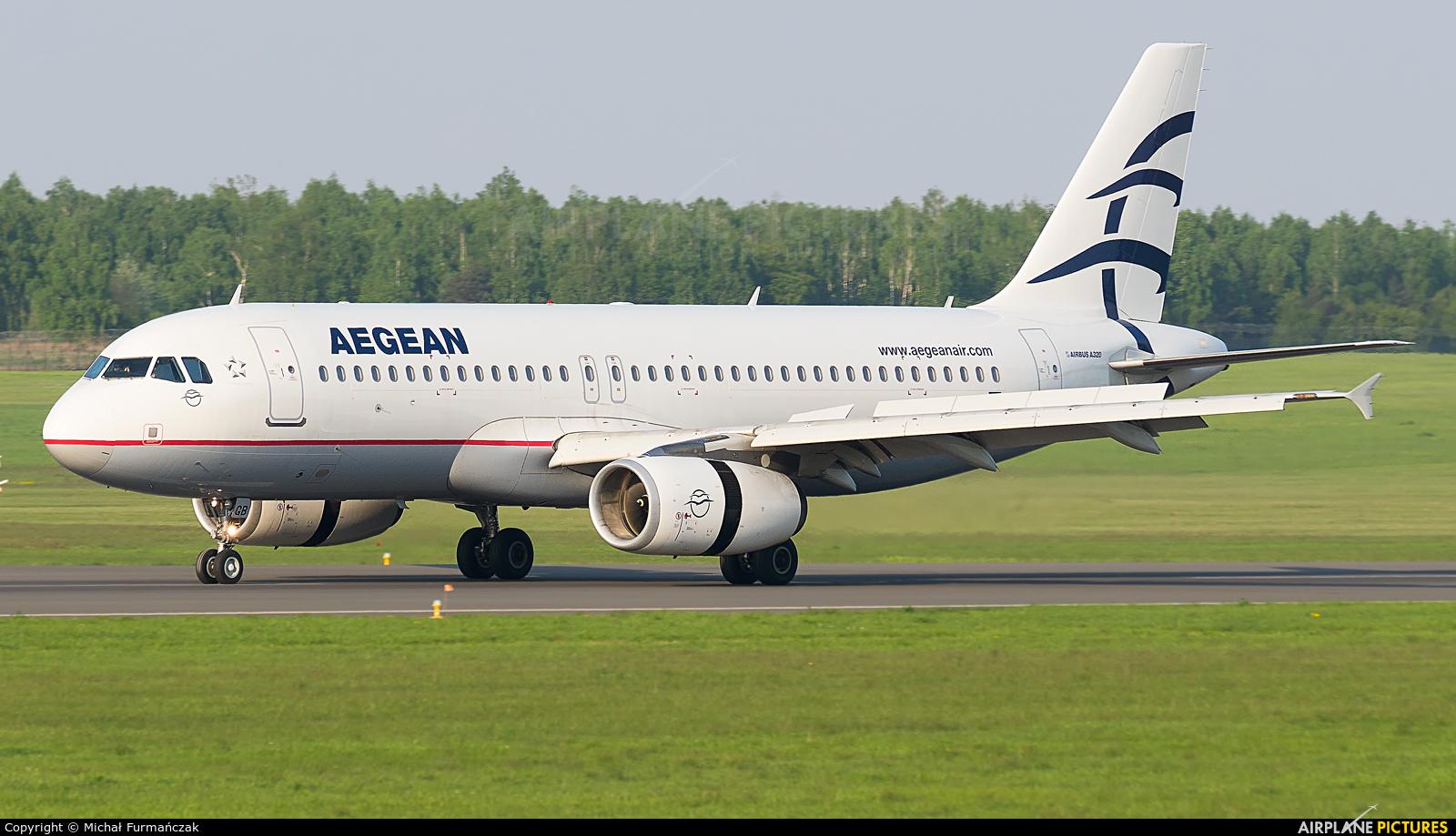 Aegean Airlines SX-DGB aircraft at Poznań - Ławica