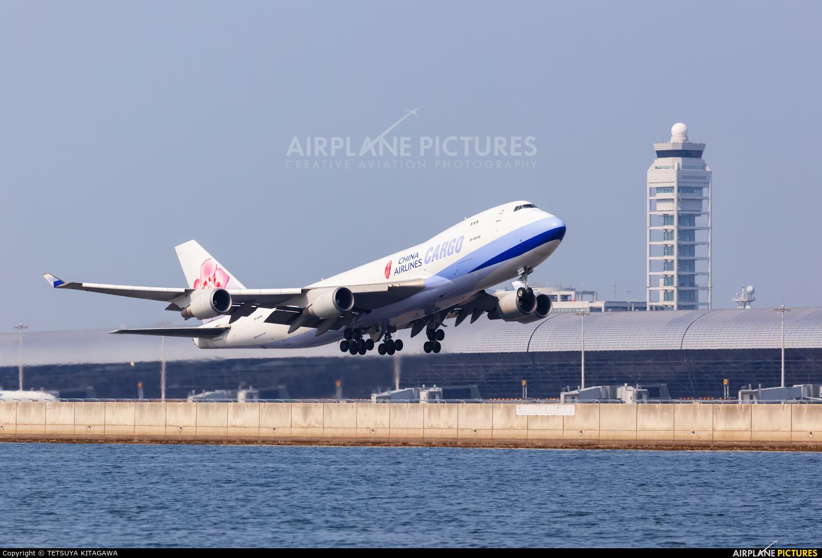China Airlines Cargo B-18720 aircraft at Kansai Intl