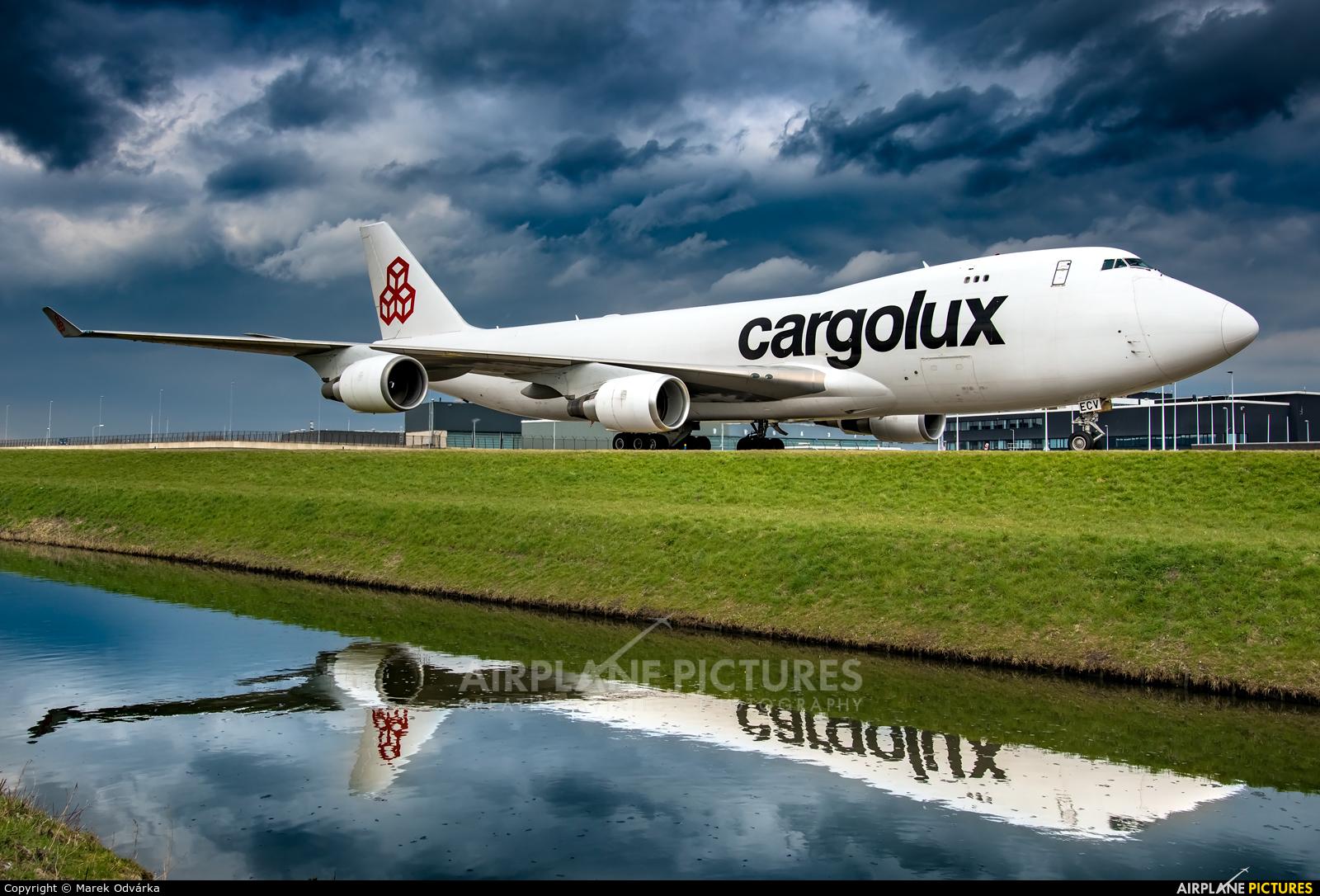 Cargolux LX-ECV aircraft at Amsterdam - Schiphol