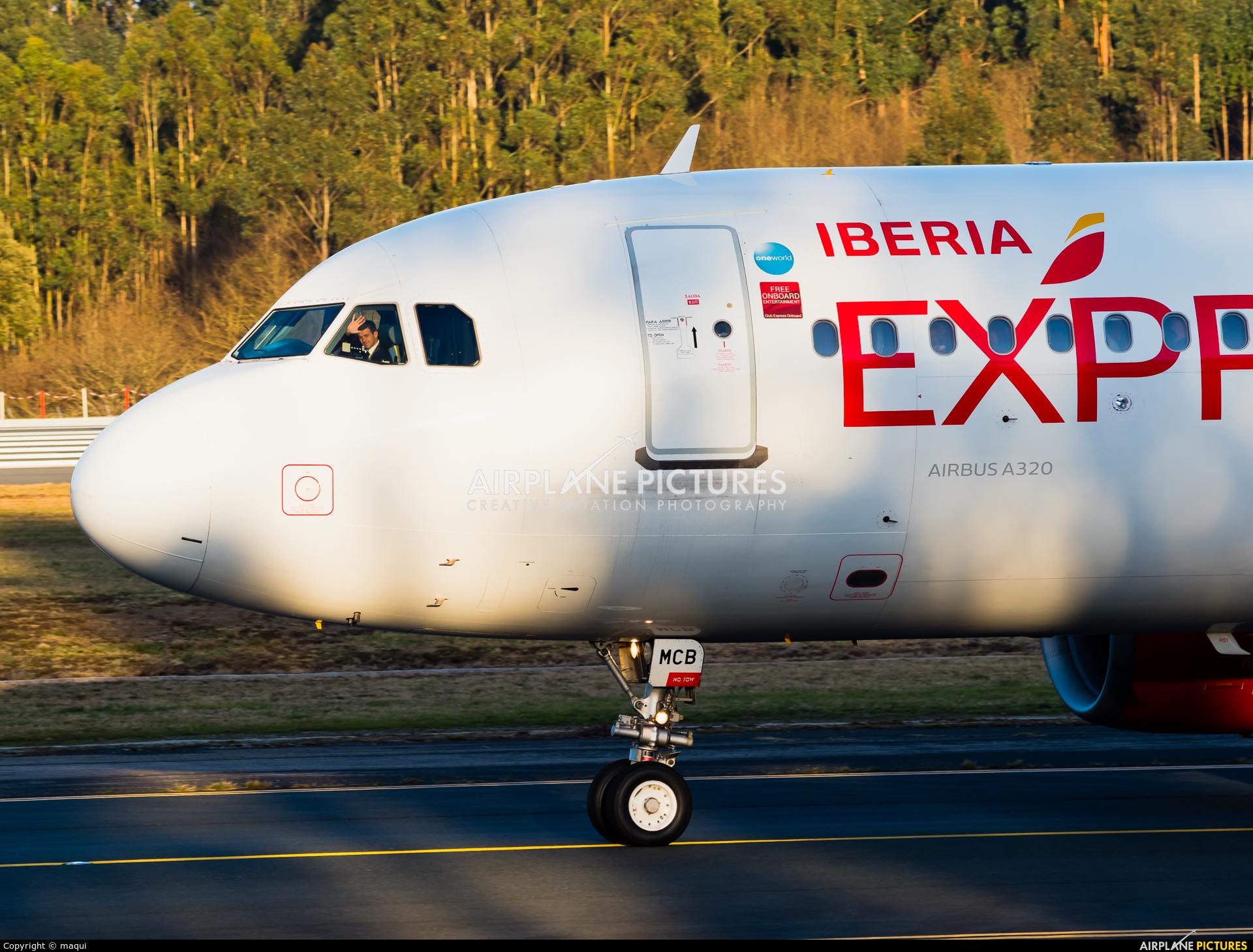 Iberia Express EC-MCB aircraft at Santiago de Compostela