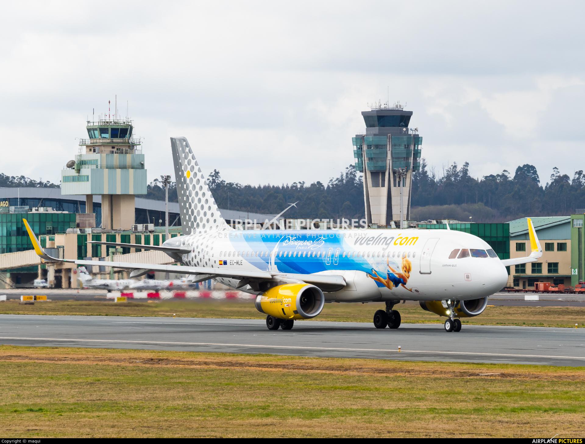 Vueling Airlines EC-MLE aircraft at Santiago de Compostela