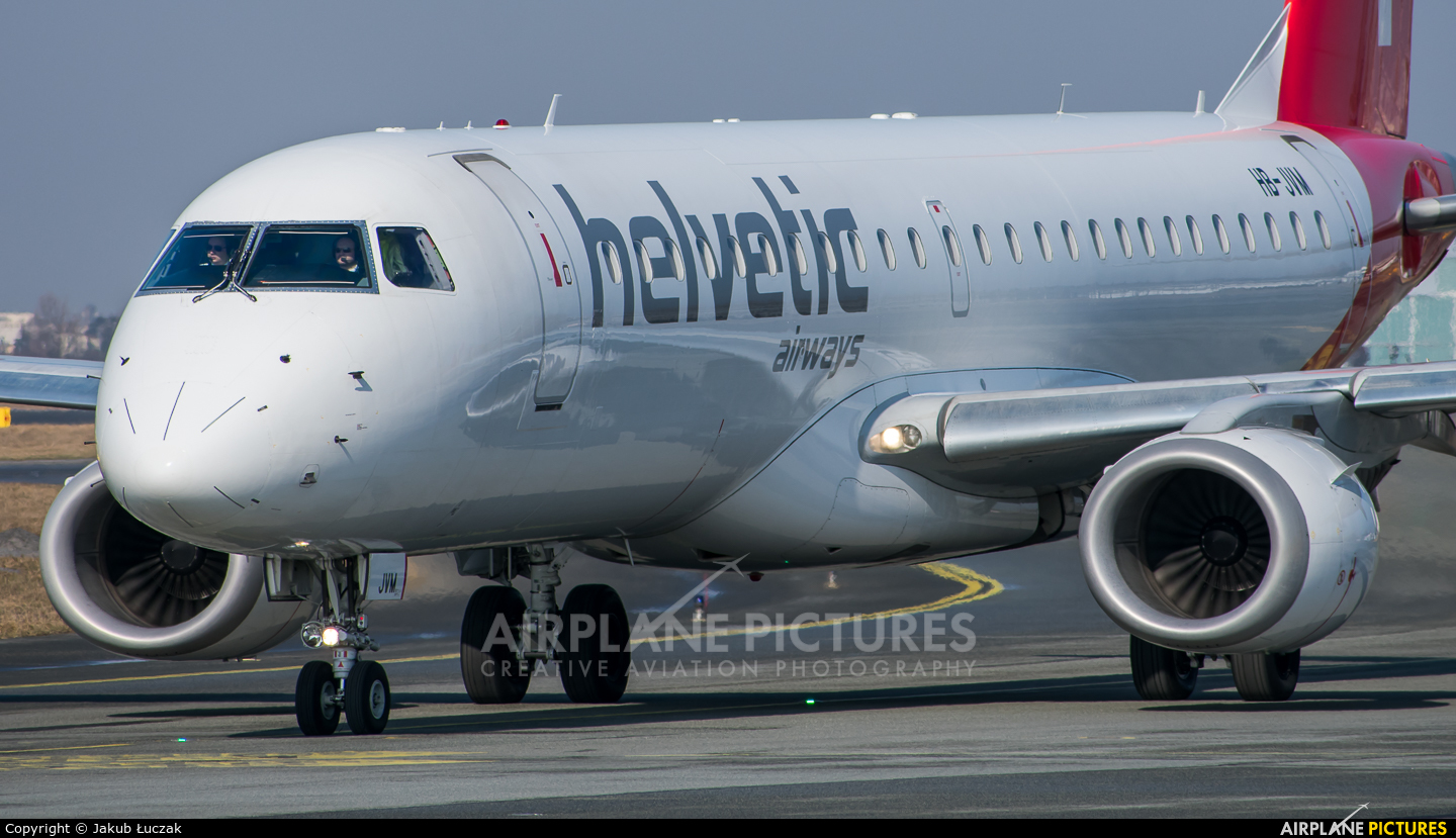 Helvetic Airways HB-JVM aircraft at Warsaw - Frederic Chopin