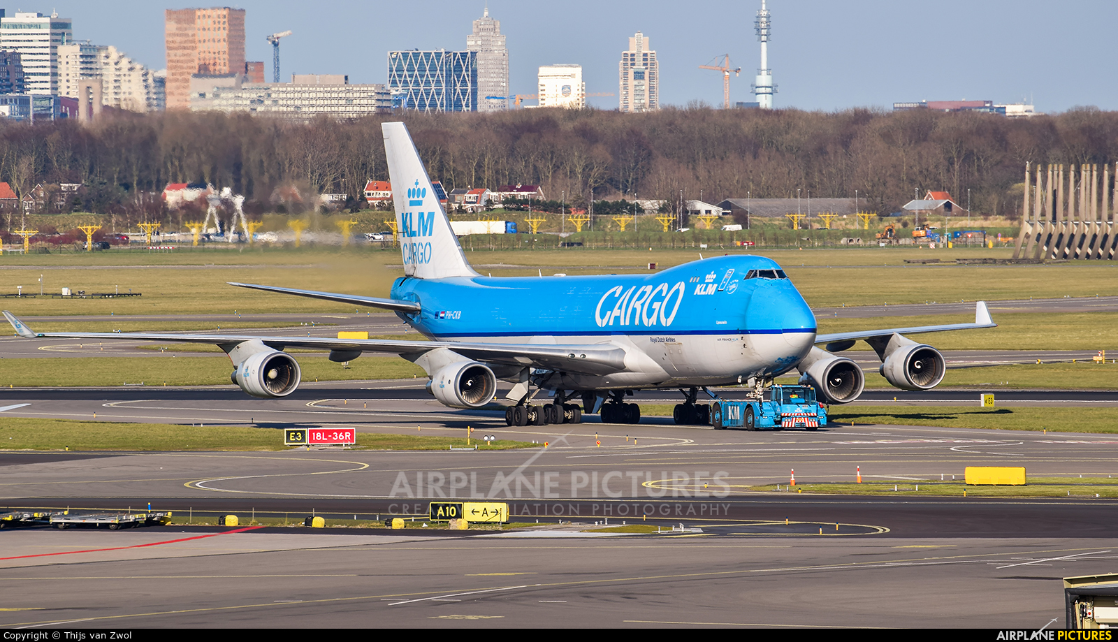KLM Cargo PH-CKB aircraft at Amsterdam - Schiphol