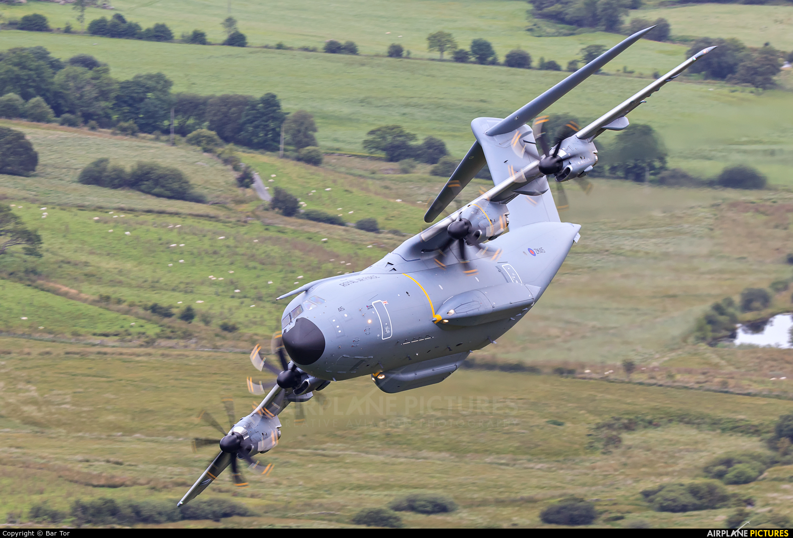 Royal Air Force ZM415 aircraft at Machynlleth Loop - LFA 7