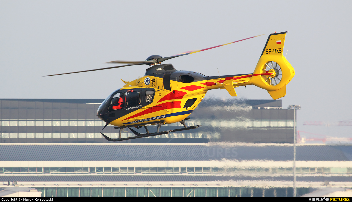Polish Medical Air Rescue - Lotnicze Pogotowie Ratunkowe SP-HXS aircraft at Warsaw - Frederic Chopin