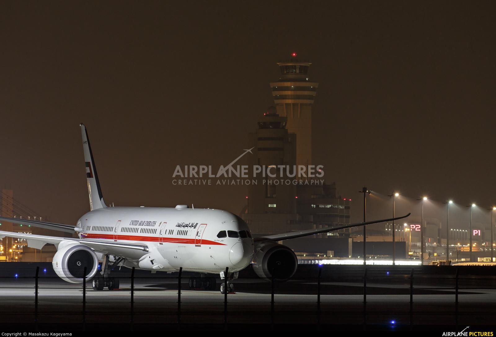 Abu Dhabi Amiri Flight A6-PFE aircraft at Tokyo - Haneda Intl