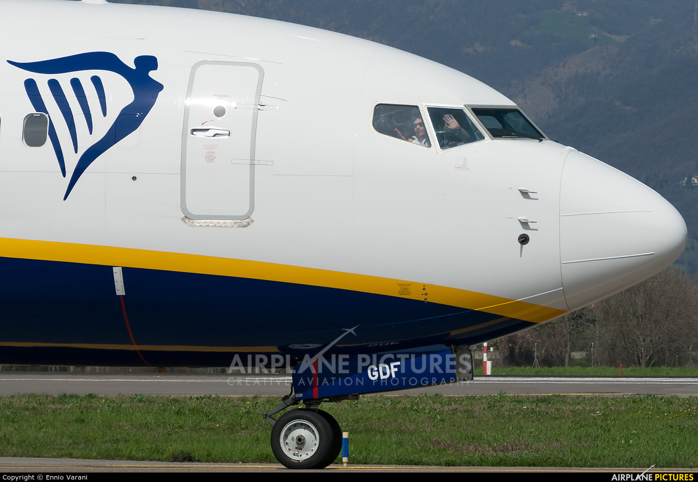 Ryan Air EI-GDF aircraft at Bergamo - Orio al Serio