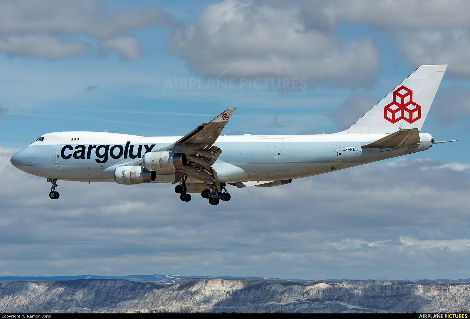 Cargolux LX-FCL aircraft at Zaragoza