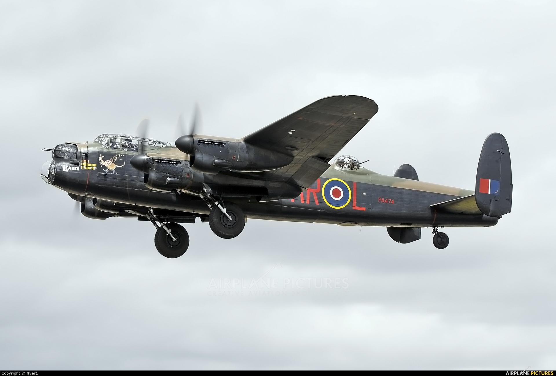 "Royal Air Force ""Battle of Britain Memorial Flight&quot PA474 aircraft at Fairford"