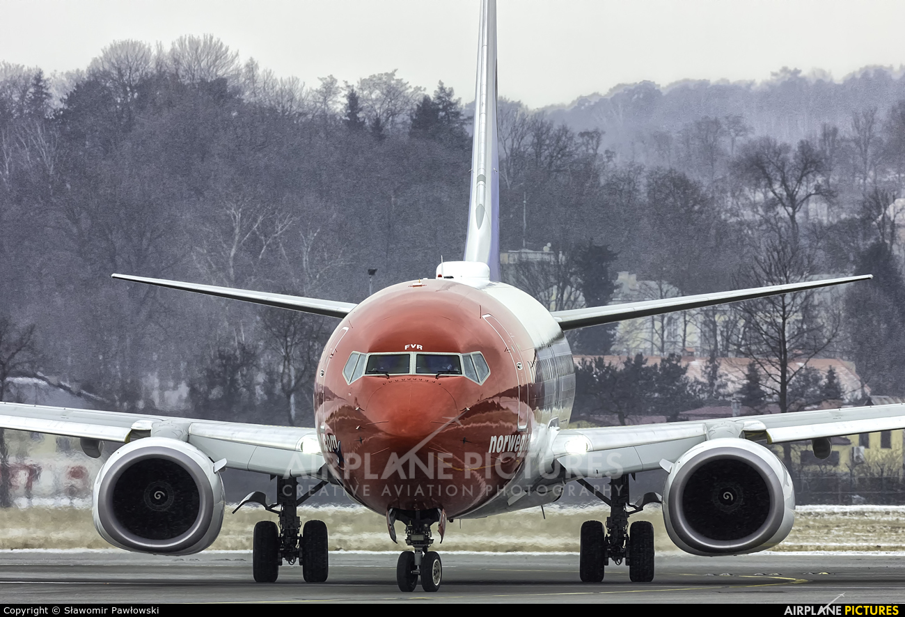 Norwegian Air Shuttle EI-FVR aircraft at Kraków - John Paul II Intl