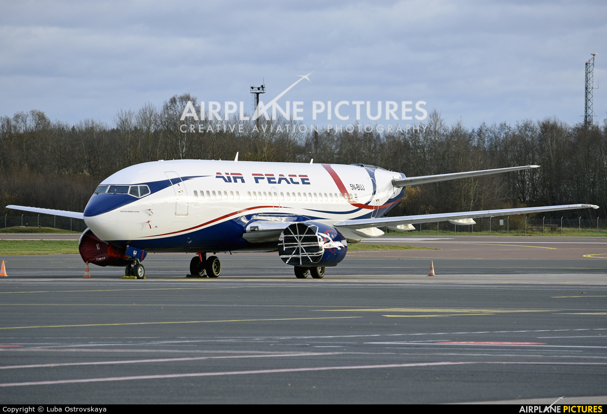 Air Peace 5N-BUJ aircraft at Tallinn