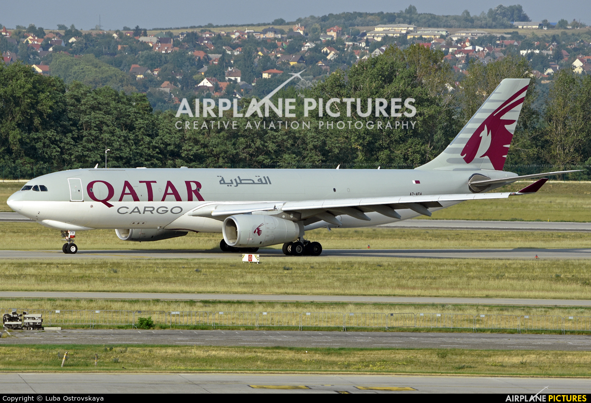 Qatar Airways Cargo A7-AFH aircraft at Budapest Ferenc Liszt International Airport