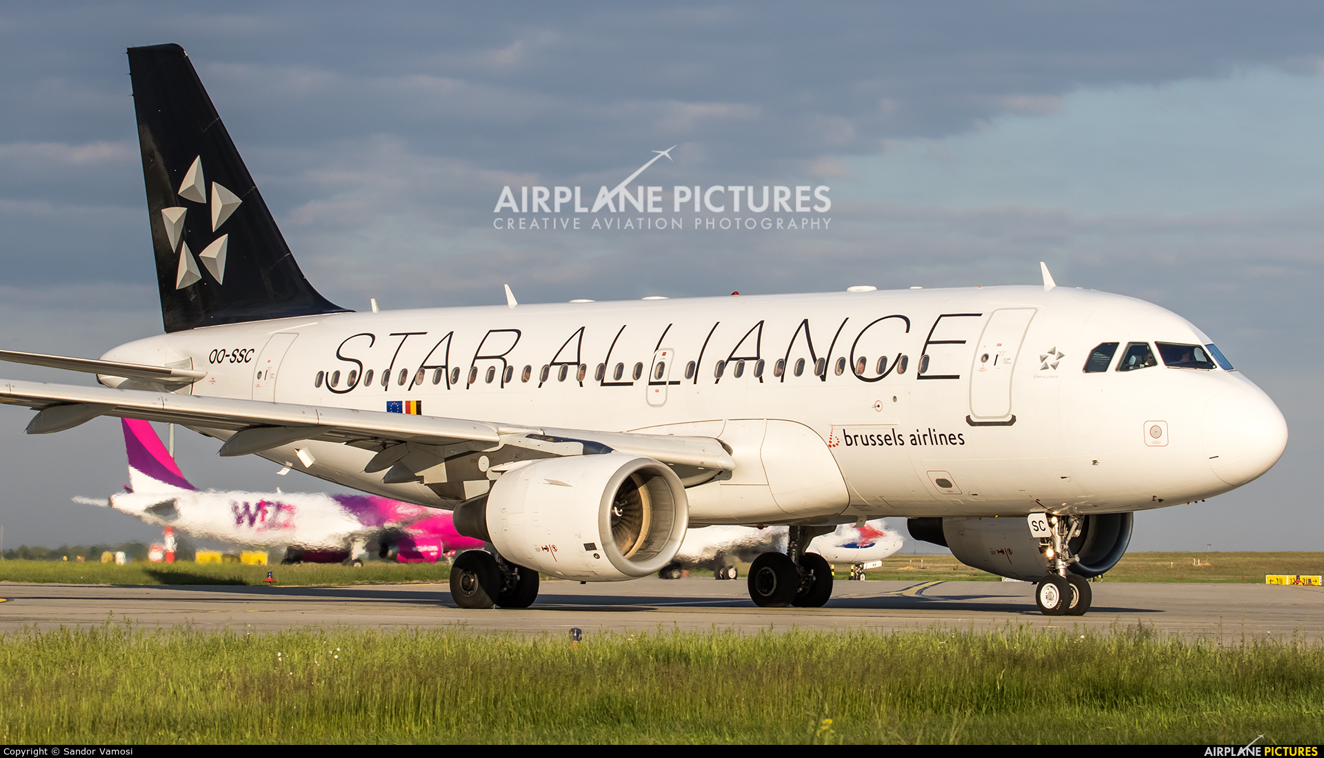 Brussels Airlines OO-SSC aircraft at Budapest Ferenc Liszt International Airport