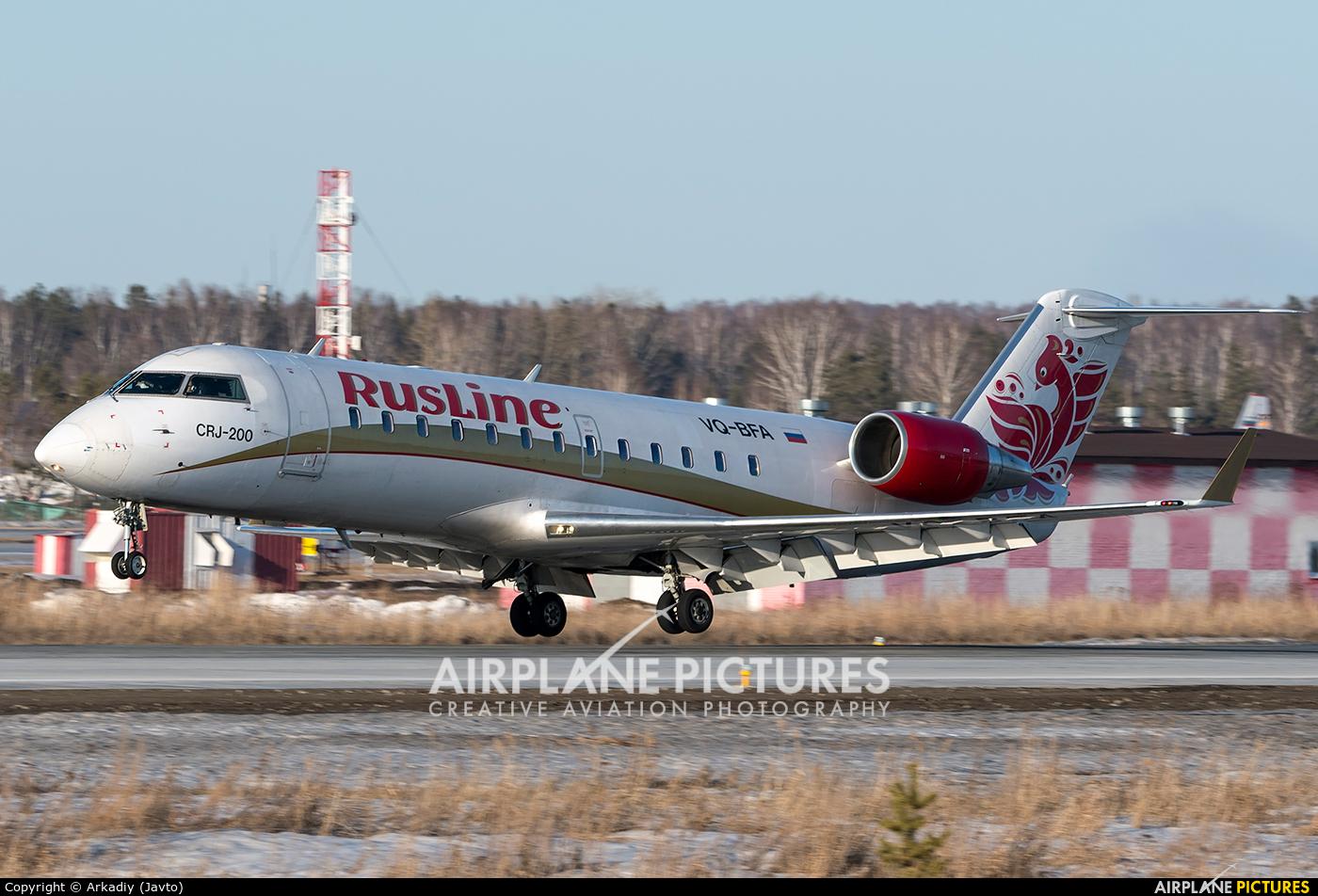 Rusline VQ-BFA aircraft at Koltsovo - Ekaterinburg