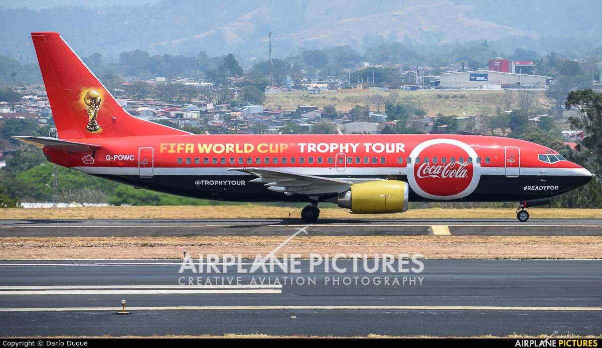 Titan Airways G-POWC aircraft at San Jose - Juan Santamaría Intl