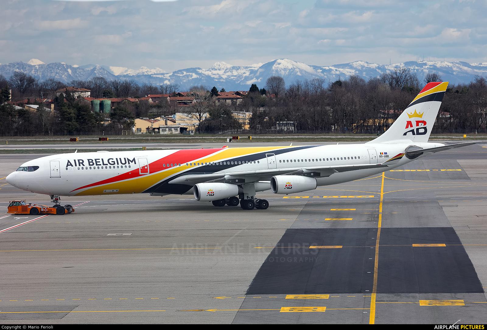 Air Belgium OO-ABB aircraft at Milan - Malpensa