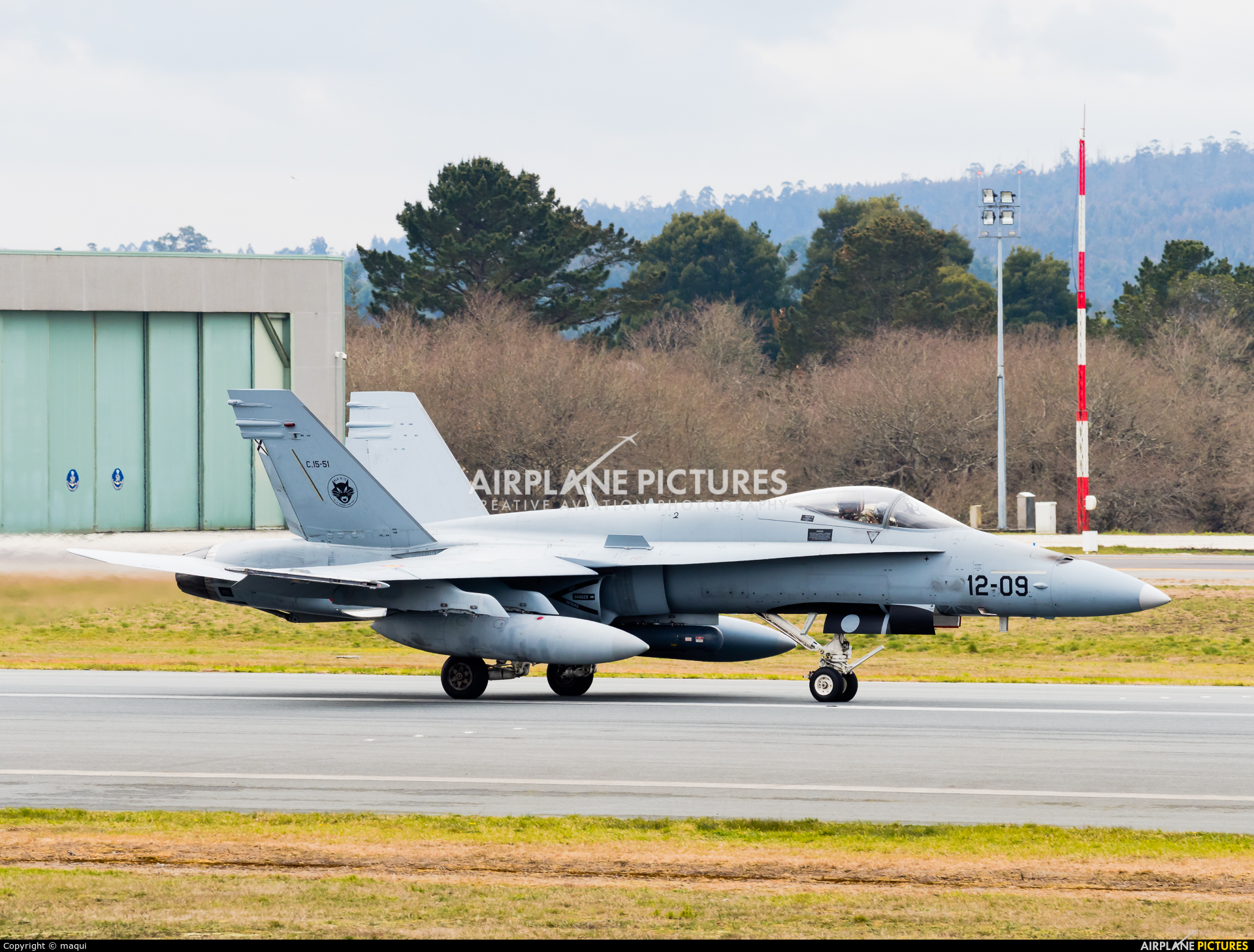 Spain - Air Force C.15-51 aircraft at Santiago de Compostela