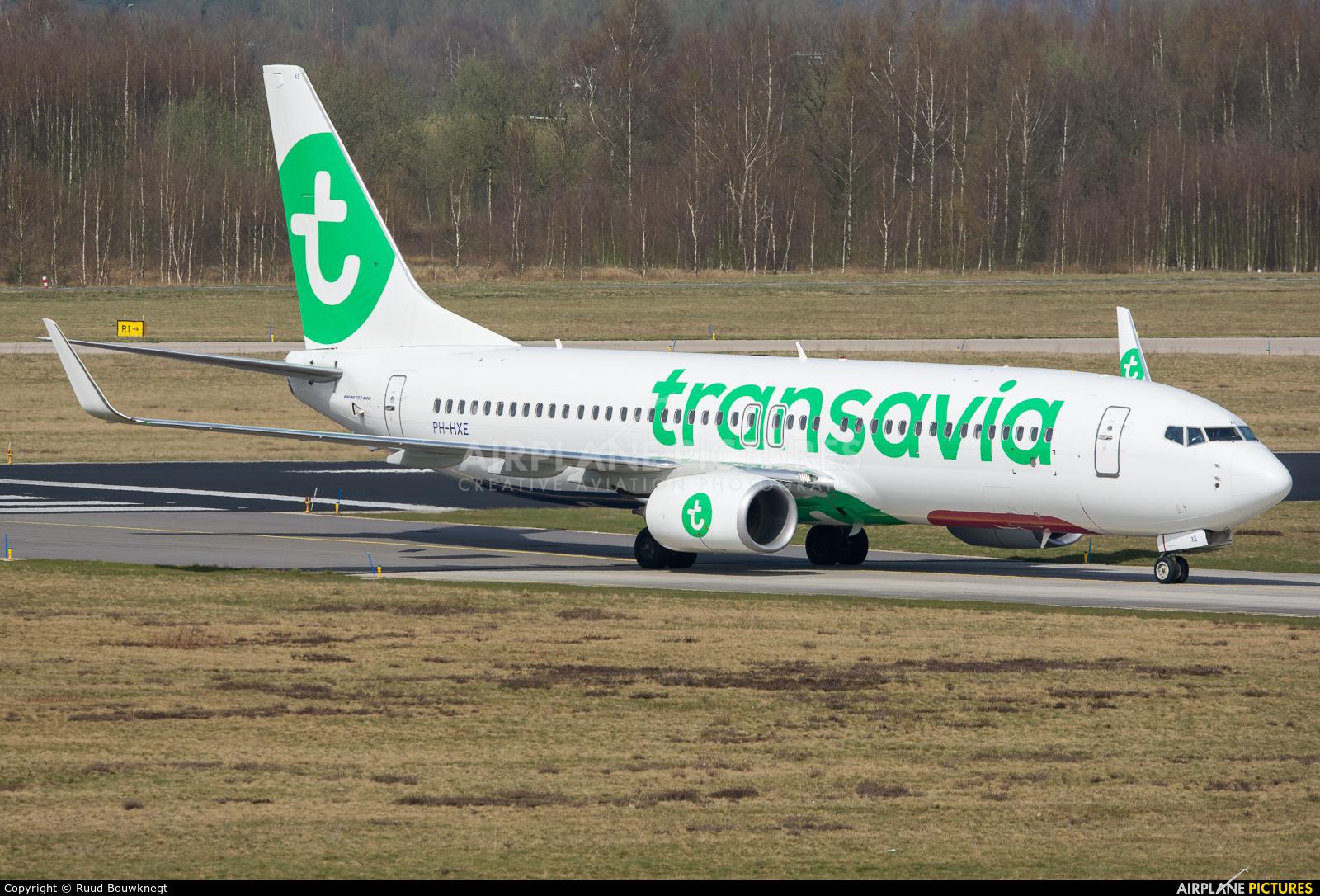 Transavia PH-HXE aircraft at Eindhoven