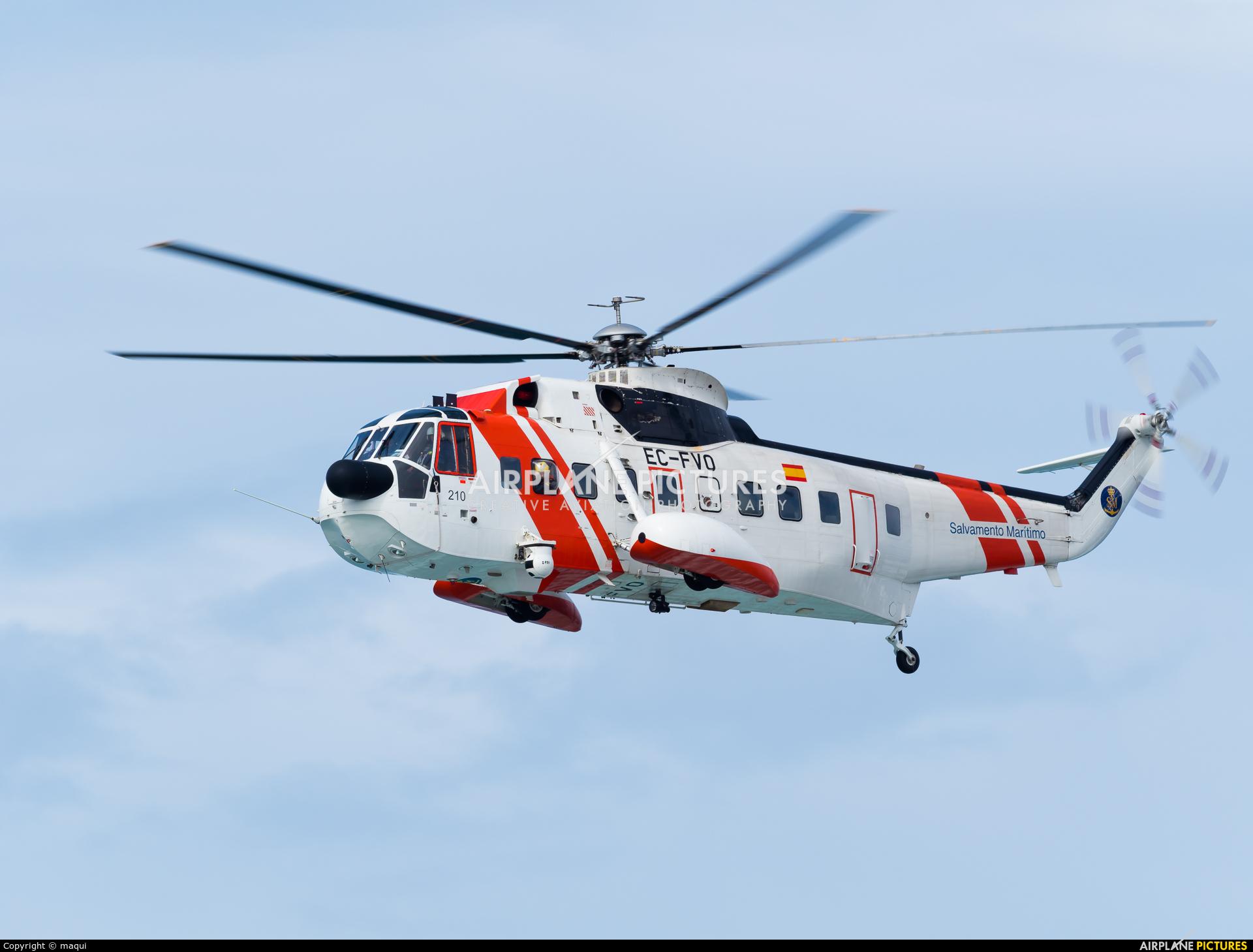 Spain - Coast Guard EC-FVO aircraft at La Coruña - Orzan Bay