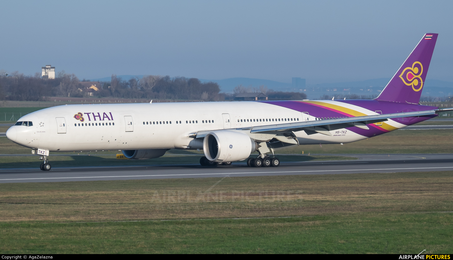 Thai Airways HS-TKZ aircraft at Vienna - Schwechat