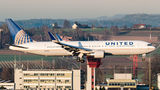 United Airlines Boeing 767-300 N666UA at Zurich airport