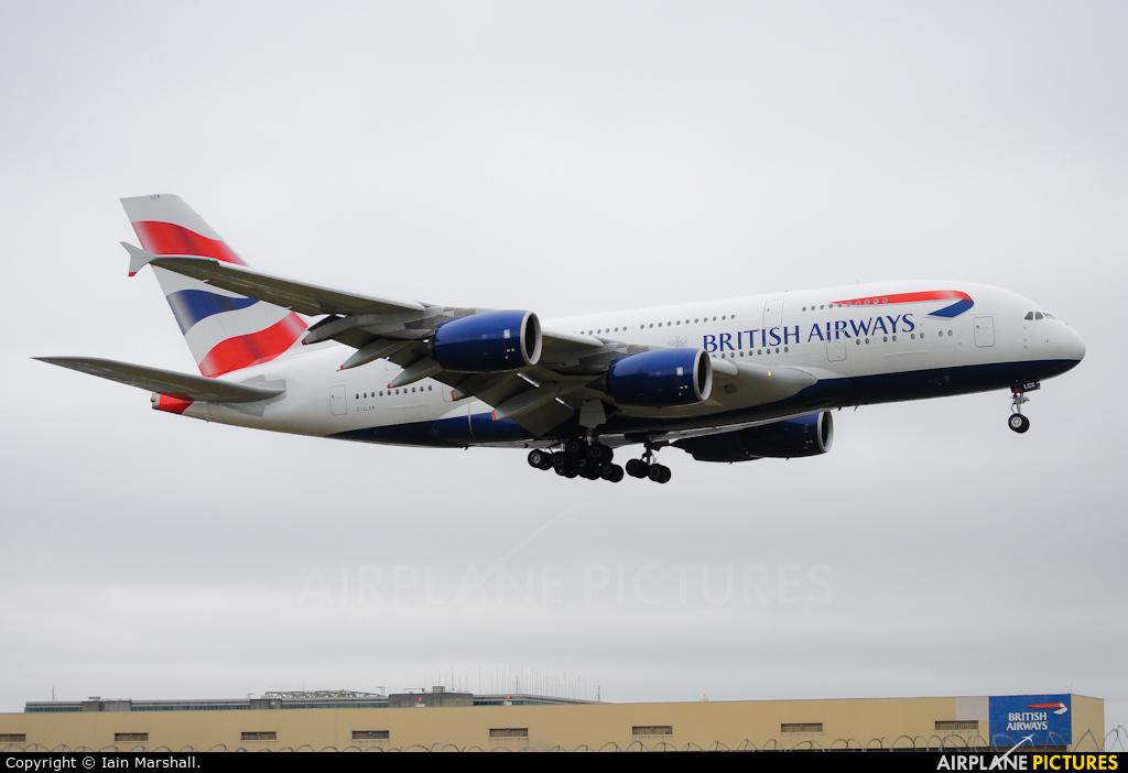 British Airways G-XLEK aircraft at London - Heathrow