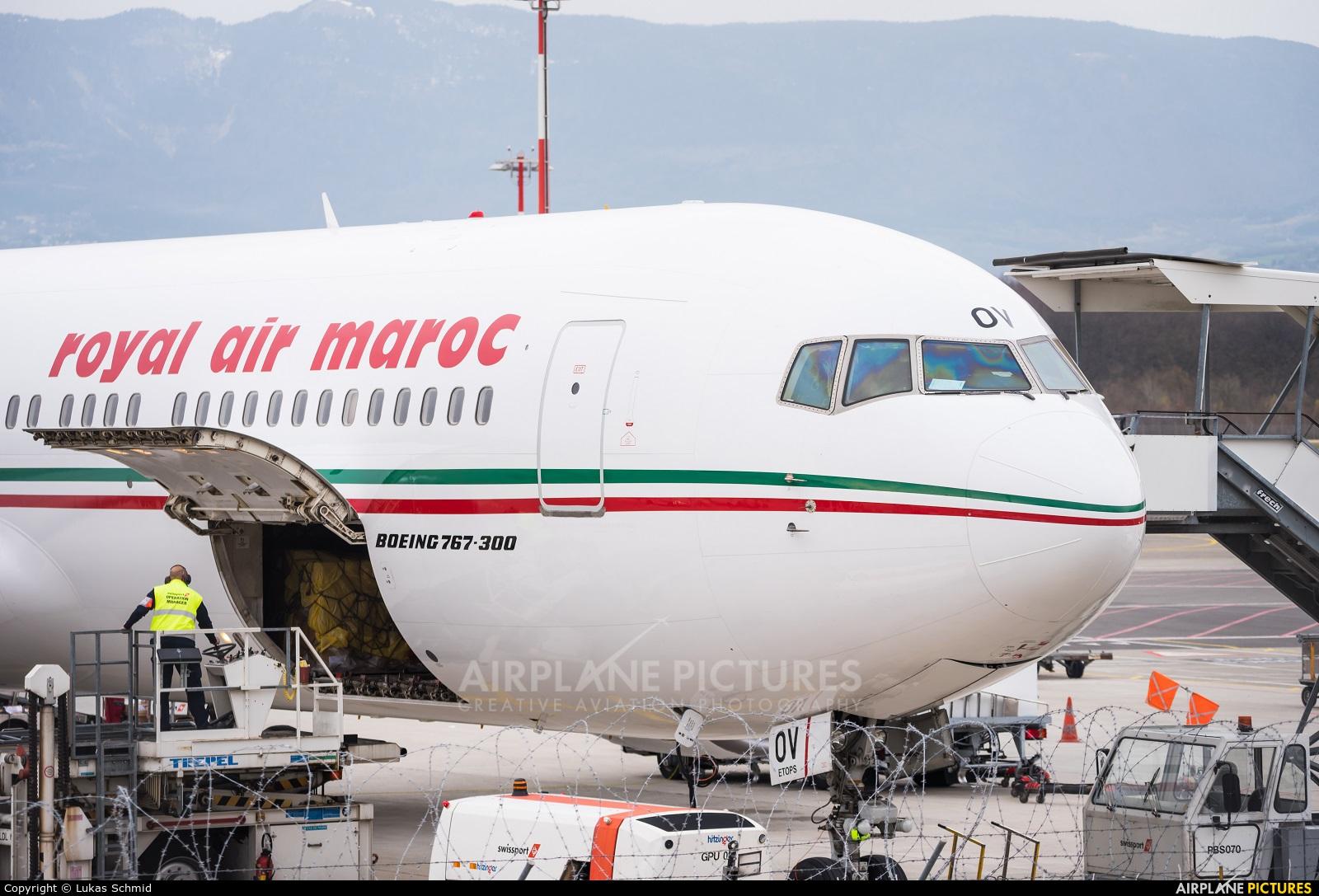 Royal Air Maroc CN-ROV aircraft at Geneva Intl