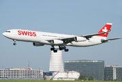HB-JMI - Swiss Airbus A340-300 aircraft
