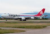 Rare visit of Cargolux B744 to Verona Villafranca title=
