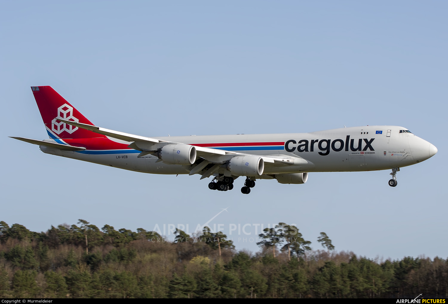 Cargolux LX-VCB aircraft at Luxembourg - Findel