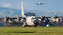 Rare visit of two Belgium Air Force Lockheed C-130s to Glasgow title=