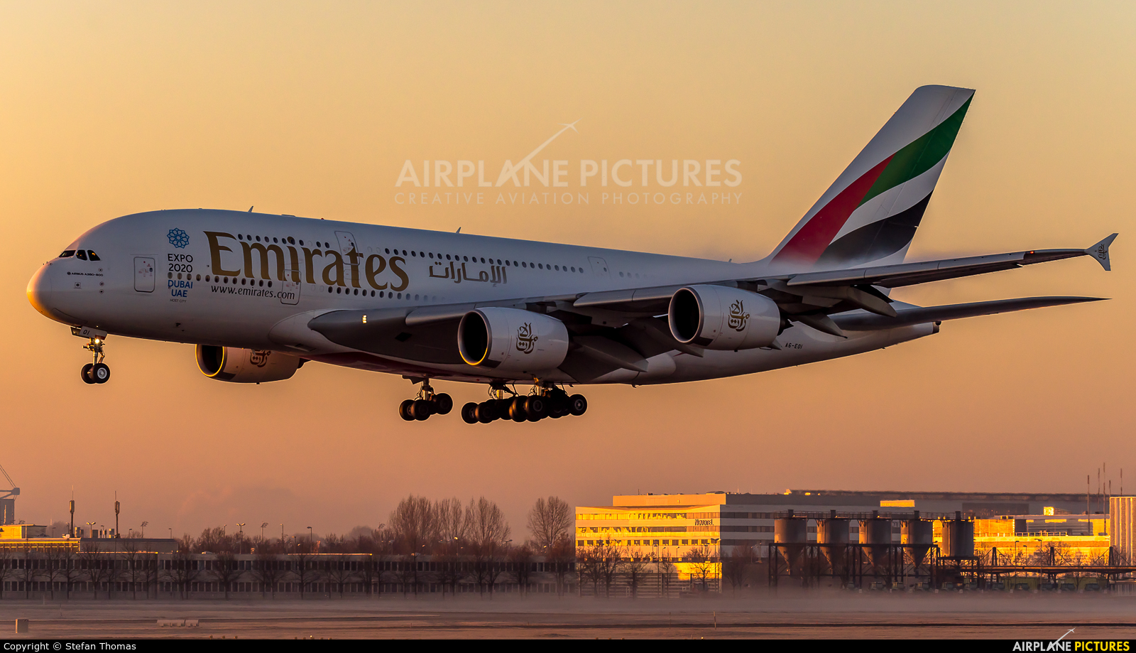 Emirates Airlines A6-EOI aircraft at Munich
