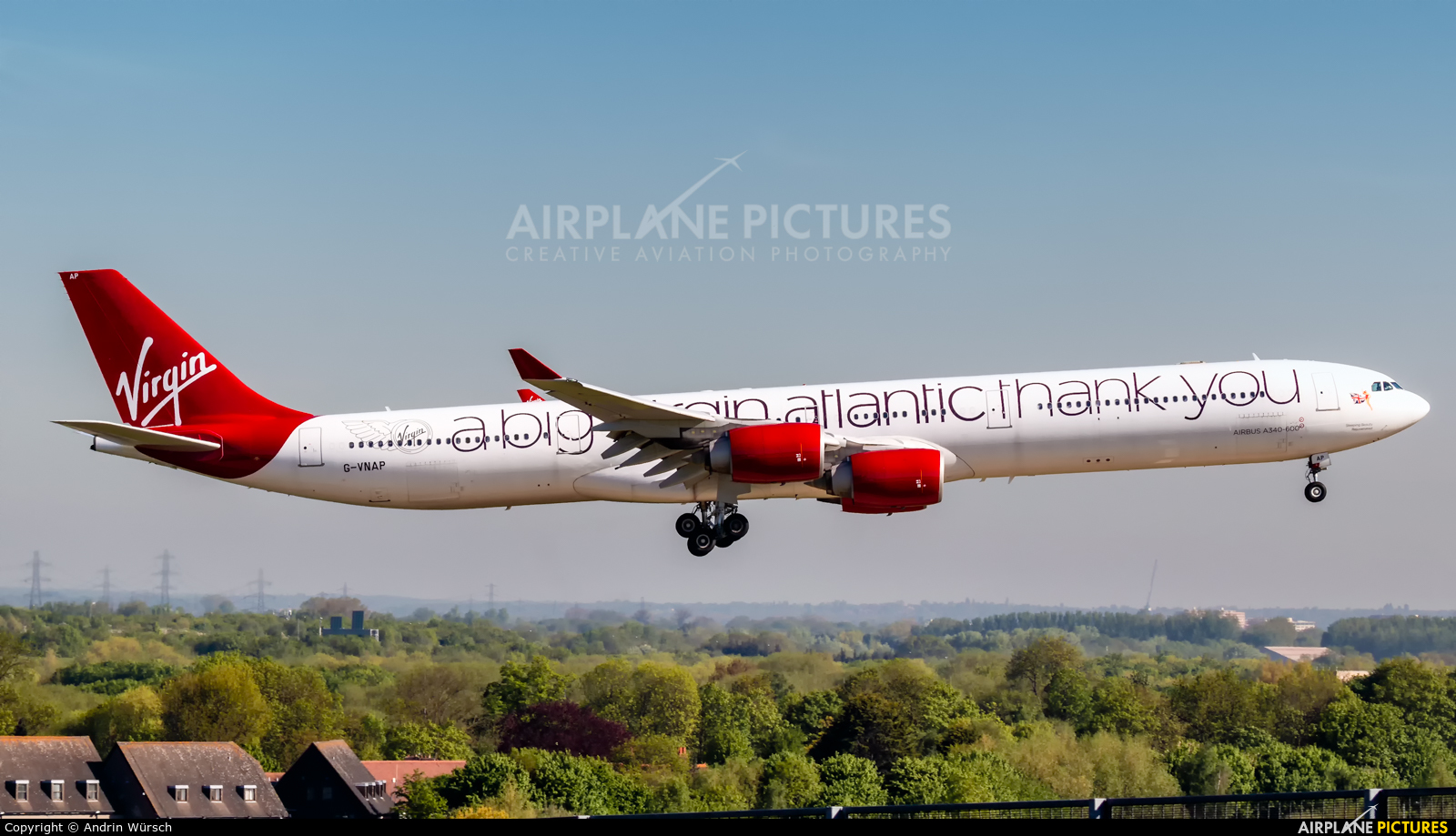 Virgin Atlantic G-VNAP aircraft at London - Heathrow