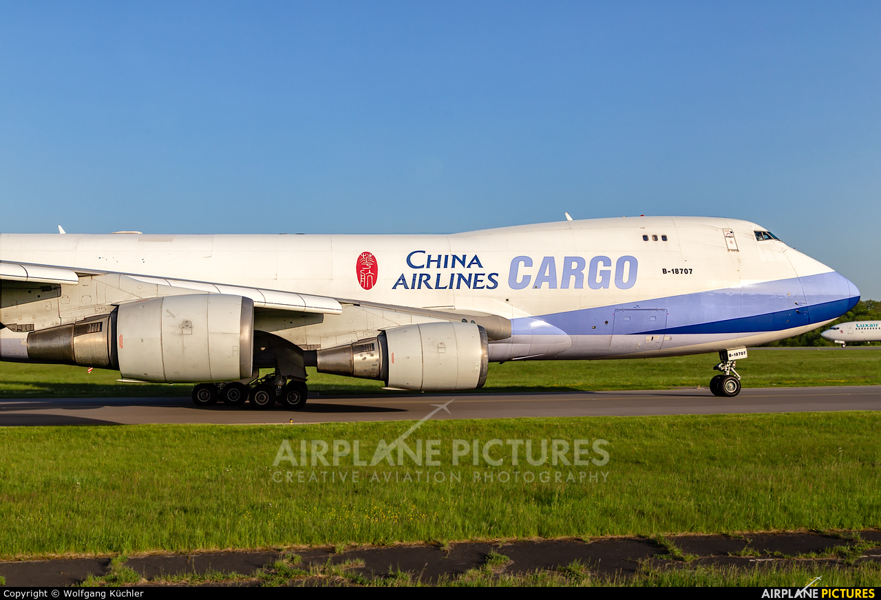China Airlines Cargo B-18707 aircraft at Luxembourg - Findel