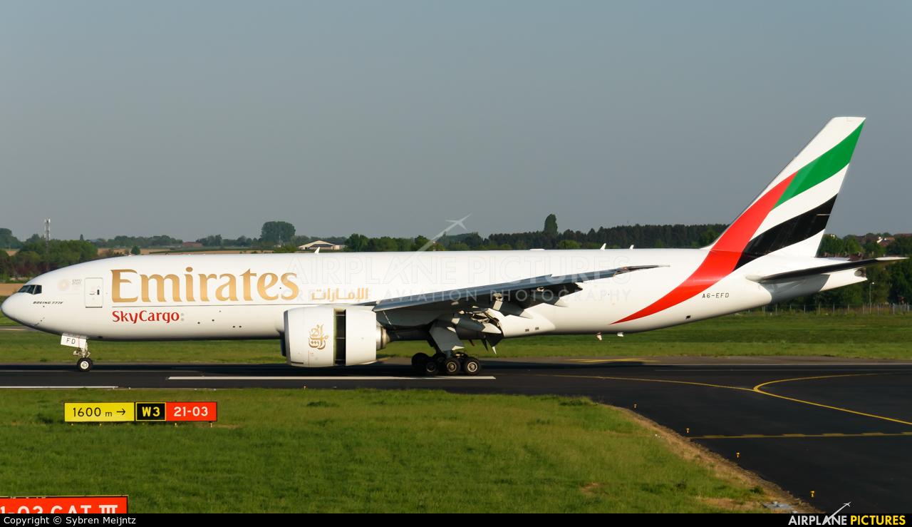 Emirates Sky Cargo A6-EFD aircraft at Maastricht - Aachen