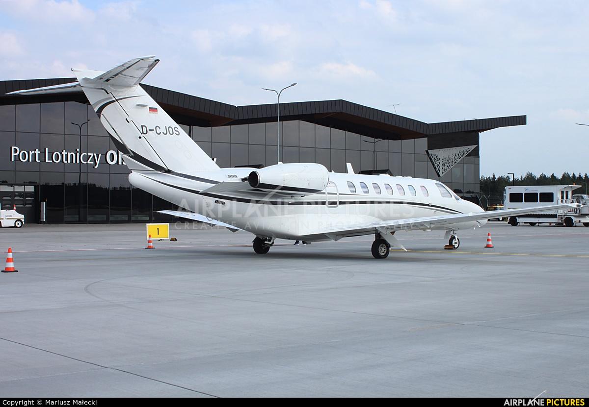 Luxaviation D-CJOS aircraft at Olsztyn Mazury Airport (Szymany)